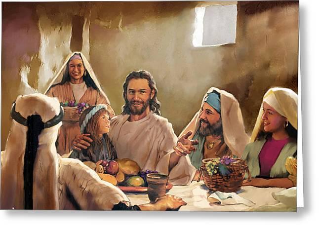 Jesus Greeting Card by Kero Magdy