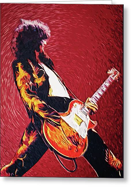Jimmy Page II Greeting Card by Taylan Apukovska