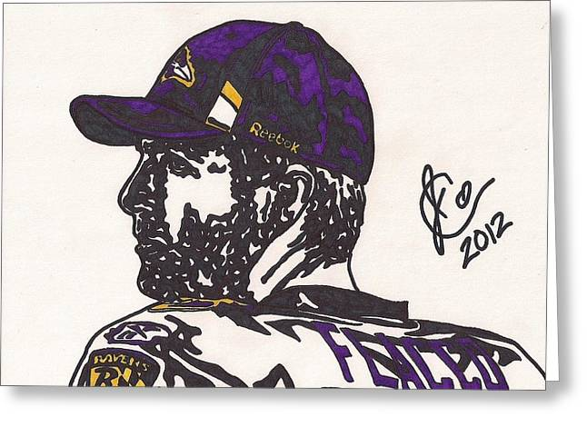 Player Greeting Cards - Joe Flacco 2 Greeting Card by Jeremiah Colley