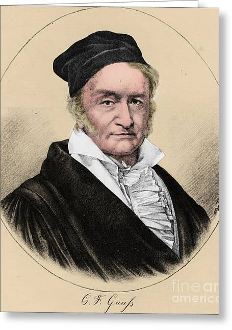 Mathematician Greeting Cards - Johann Carl Friedrich Gauss, German Greeting Card by Science Source
