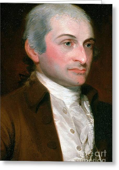 American Politician Greeting Cards - John Jay, American Founding Father Greeting Card by Photo Researchers