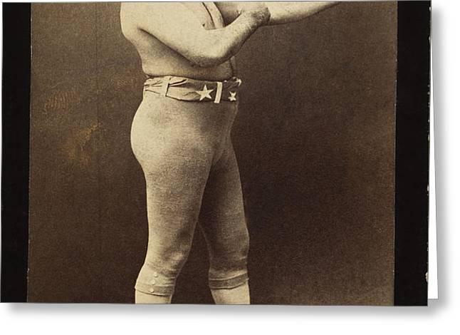 JOHN L. SULLIVAN (1858-1918) Greeting Card by Granger