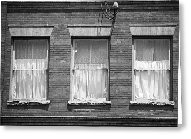 Tennessee Landmark Greeting Cards - Jonesborough Tennessee - Three Windows Greeting Card by Frank Romeo