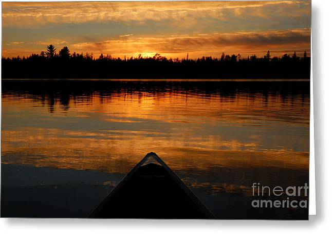 Boundary Waters Greeting Cards - Jordan Lake Sunset Greeting Card by Larry Ricker