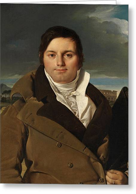 Joseph-antoine Moltedo Greeting Card by Jean-Auguste-Dominique Ingres