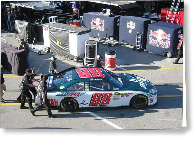 Jr Motorsports Greeting Cards - Juniors Number 88 Greeting Card by Jamie Baldwin