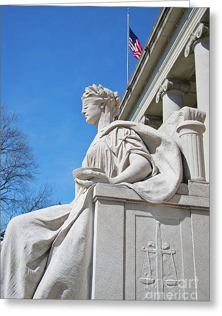 Justice Is Blind Greeting Card by ELITE IMAGE photography By Chad McDermott
