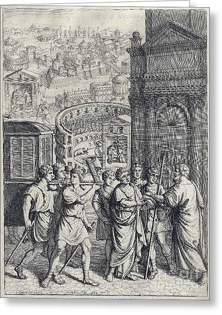 Junius Greeting Cards - Juvenals Satires, Manners Of Men Greeting Card by Folger Shakespeare Library