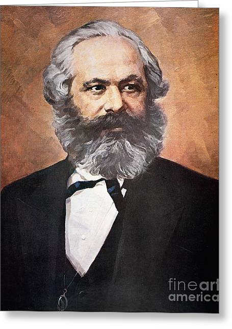 Creating Greeting Cards - Karl Marx Greeting Card by Unknown