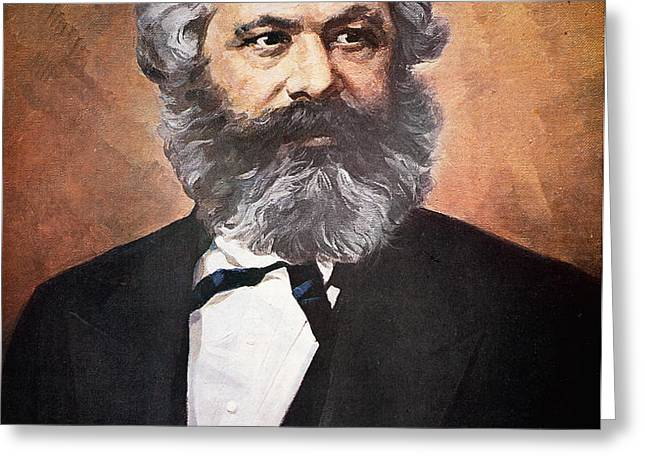 Karl Marx Greeting Card by Unknown