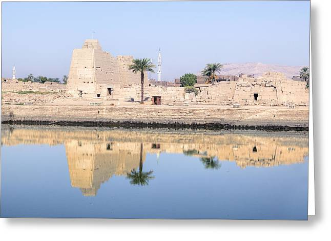 Luxor Greeting Cards - Karnak Temple - Egypt Greeting Card by Joana Kruse