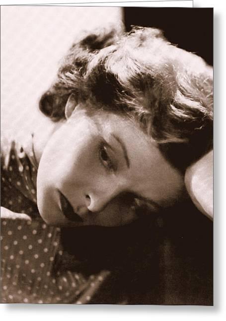 Katherine Hepburn Greeting Card by Glenn Aker
