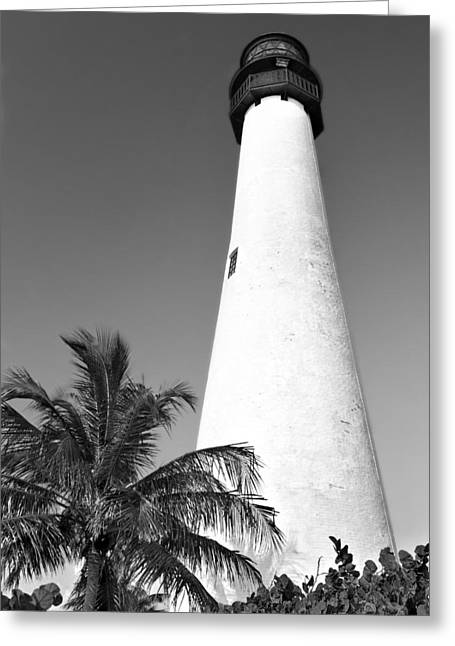 Bill Baggs Greeting Cards - Key Biscayne Lighthouse Greeting Card by Rudy Umans