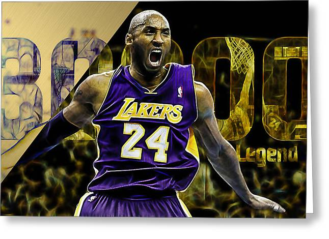 Kobe Bryant Collection Greeting Card by Marvin Blaine
