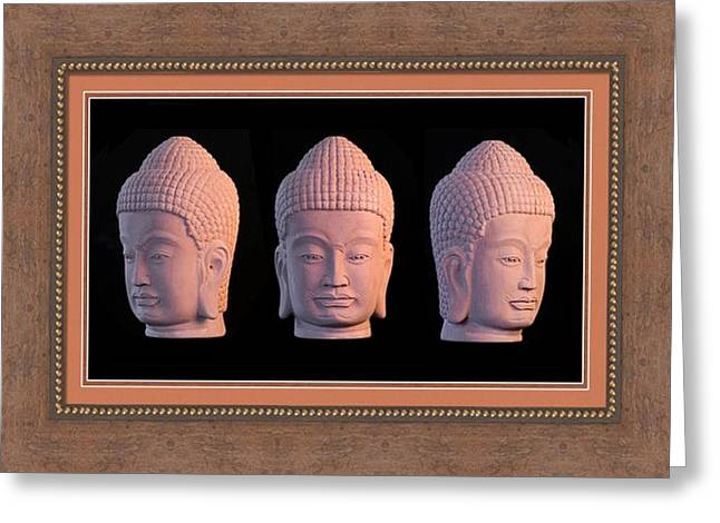 Serene Sculptures Greeting Cards - Khmer Greeting Card 1 Greeting Card by Terrell Kaucher