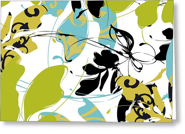 Blue And Green Greeting Cards - Kyoto Spring I Greeting Card by Mindy Sommers