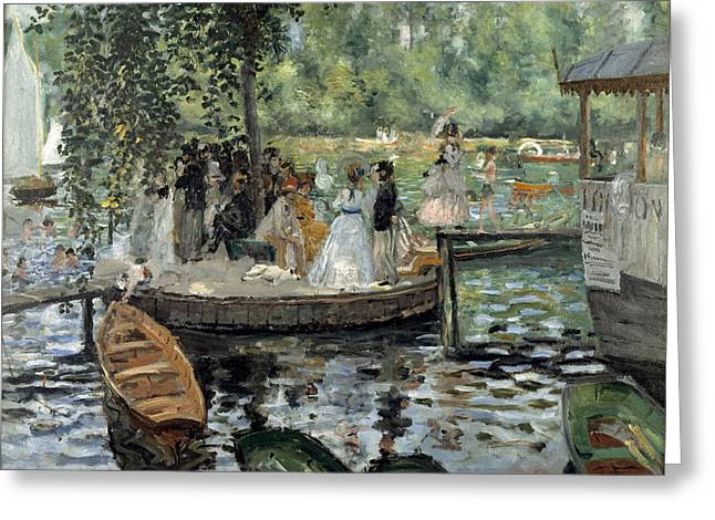 Grenouillere Greeting Cards - La Grenouillere Greeting Card by Auguste Renoir