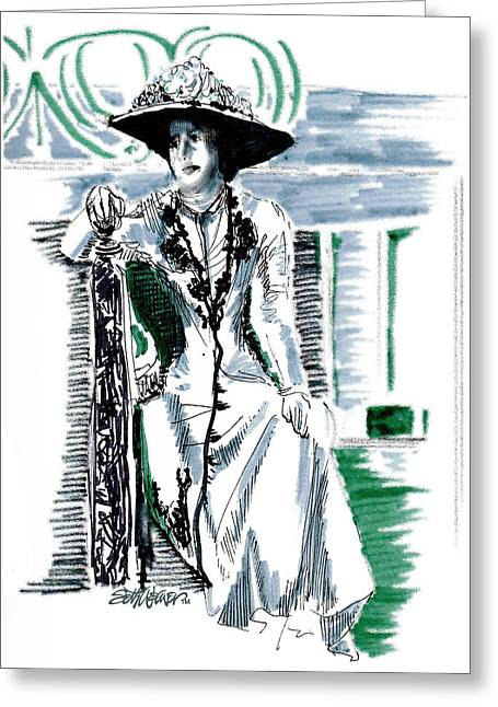 Mcgovern Greeting Cards - Lady Grantham Greeting Card by Seth Weaver