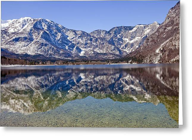 Bohinj Lake Greeting Cards - Lake Bohinj Greeting Card by Andre Goncalves