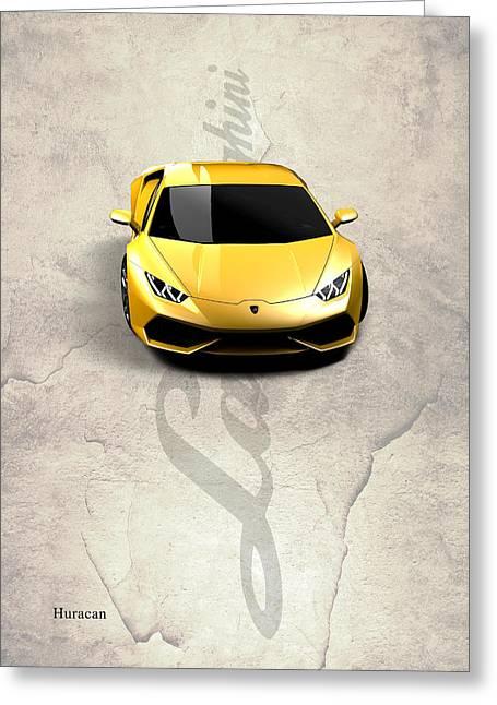 Lamborghini Huracan Greeting Card by Mark Rogan