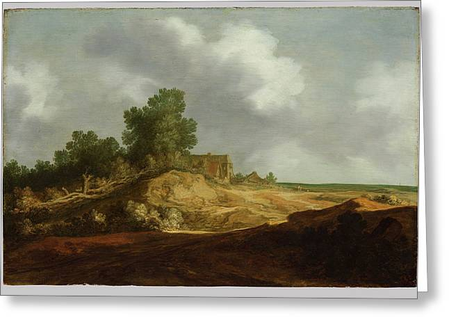 Landscape With A Cottage Greeting Card by Pieter de Molijn