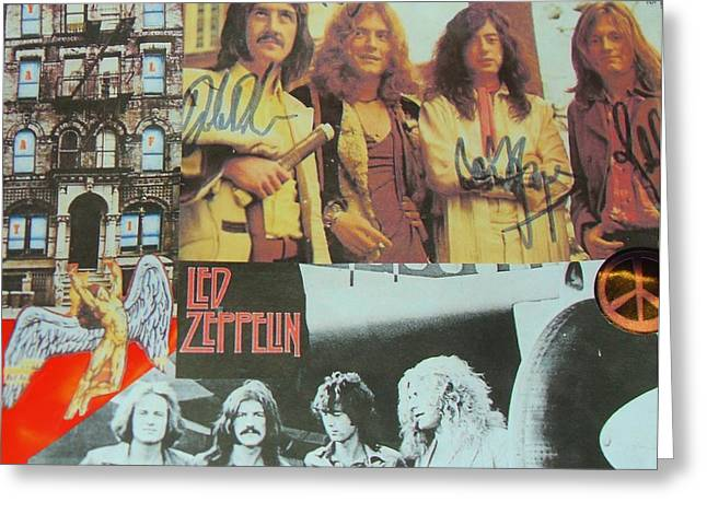 Led Zeppelin Greeting Cards Greeting Cards - Led Zeppelin Art Greeting Card by Donna Wilson