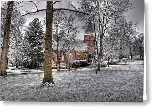 Rockbridge County Greeting Cards - Lee Chapel Greeting Card by Todd Hostetter