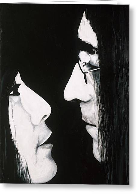 Lennon And Yoko Greeting Card by Ashley Price