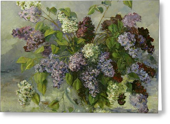 Romantic Greeting Cards - Lilacs Greeting Card by Tigran Ghulyan