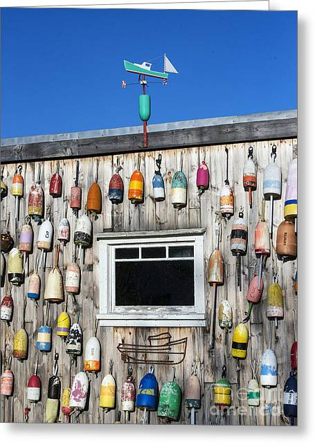 Lobster Shack Buoys Greeting Card by John Greim
