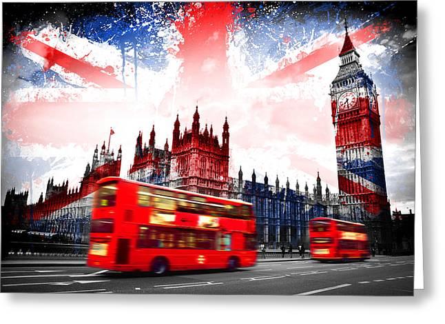London  Greeting Card by Mark Ashkenazi