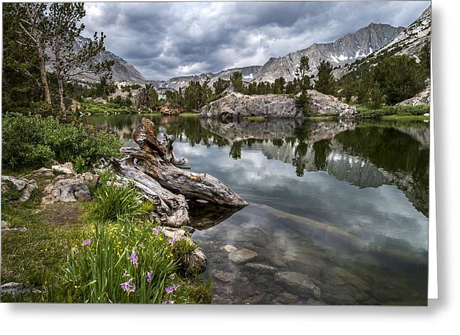 Eastern Sierra Greeting Cards - Long Lake Greeting Card by Cat Connor