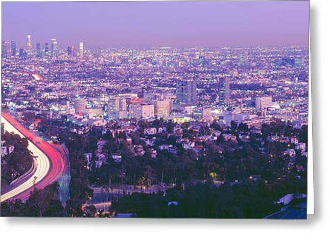 Sprawl Greeting Cards - Los Angeles, California, Usa Greeting Card by Panoramic Images