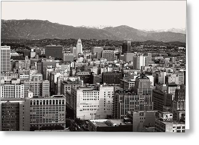 White Photographs Greeting Cards - Los Angeles Greeting Card by Mountain Dreams