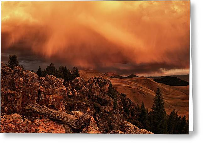 Lost River Sunset Greeting Card by Leland D Howard