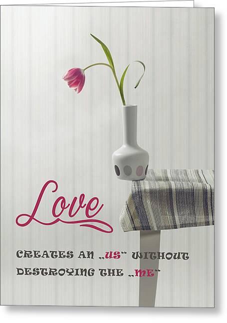 Love Greeting Card by Joana Kruse