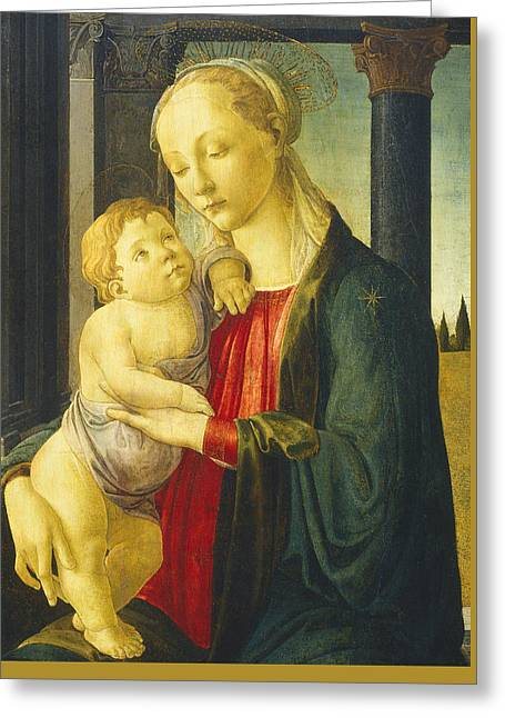 Child Jesus Greeting Cards - Madonna and child Greeting Card by Sandro Botticelli