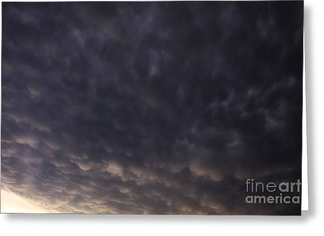 Severe Weather Greeting Cards - Mammatus Clouds Greeting Card by Francis Lavigne-Theriault