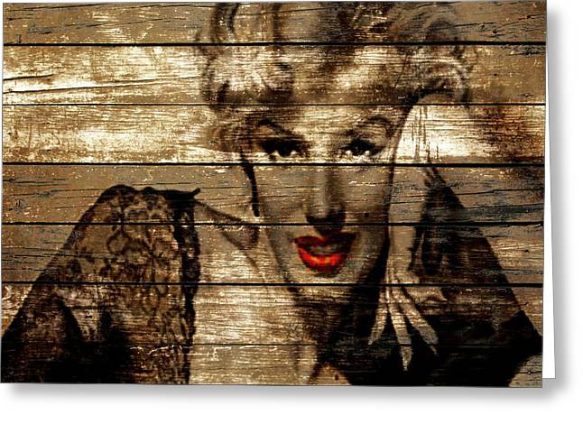 Marilyn Monroe  Greeting Card by Brian Reaves