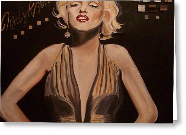 Marilyn Monroe  Greeting Card by Mikayla Henderson