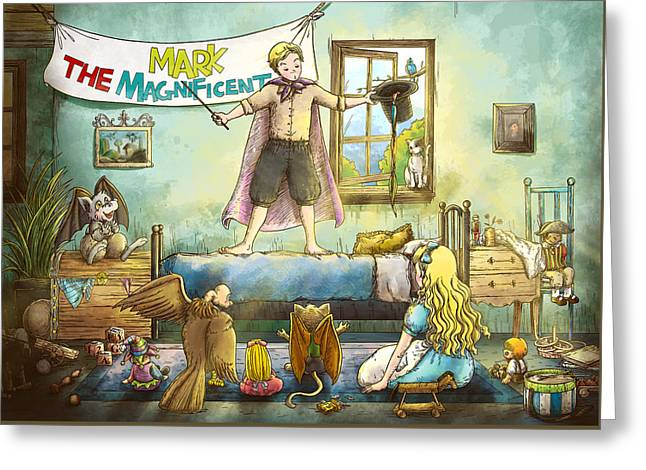 Mark The Magnificent Greeting Card by Reynold Jay