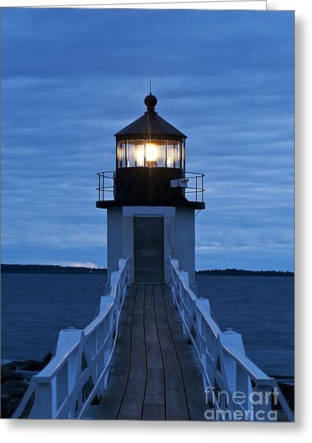 Navigation Greeting Cards - Marshall Point Light Greeting Card by John Greim
