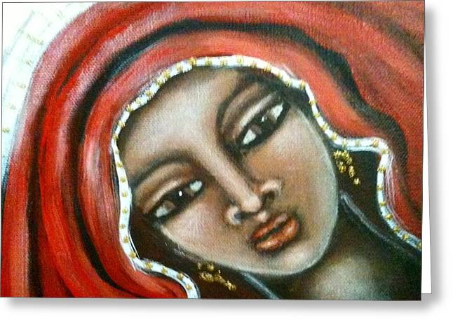 The Sacred Feminine Greeting Cards - Maryam Greeting Card by Maya Telford