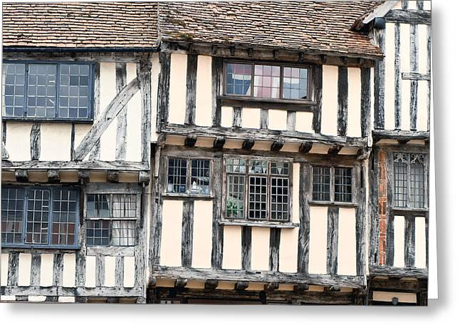 Medieval Building Greeting Card by Tom Gowanlock