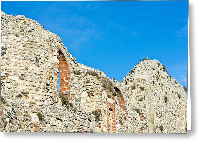 Old Relics Greeting Cards - Medieval wall Greeting Card by Tom Gowanlock