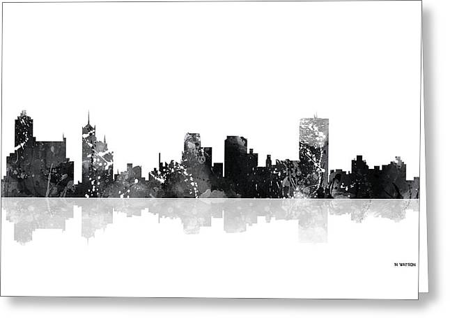 Memphis Tennessee Skyline Greeting Card by Marlene Watson
