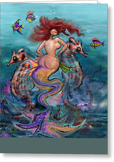 Underwater Greeting Cards - Mermaid Greeting Card by Kevin Middleton