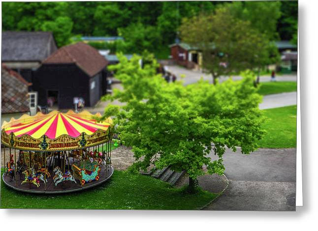 Merry-go-round Greeting Card by Angela Aird
