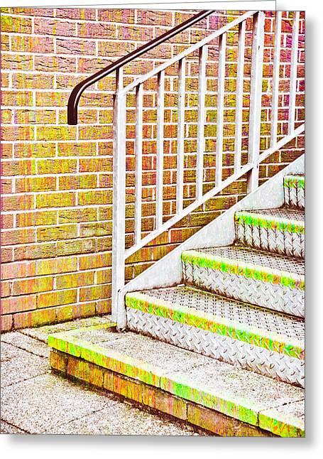 Metal Steps Greeting Card by Tom Gowanlock