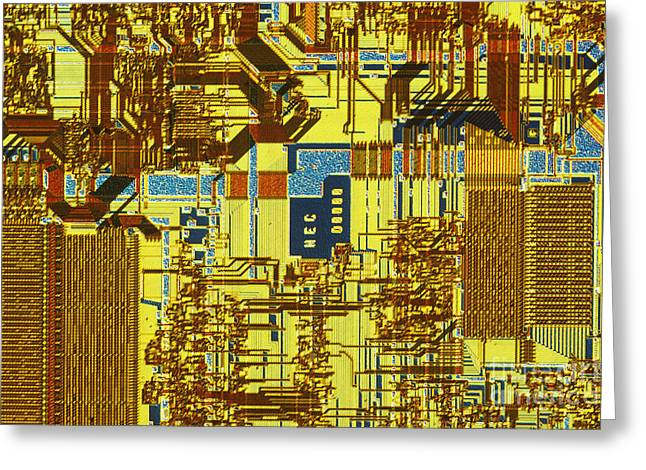 Microprocessor Greeting Card by Michael W. Davidson